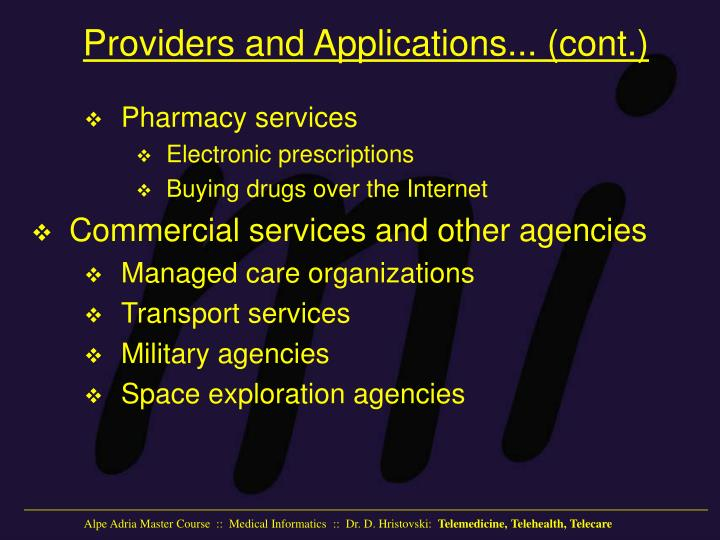 Providers and Applications