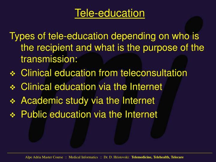 Tele-education