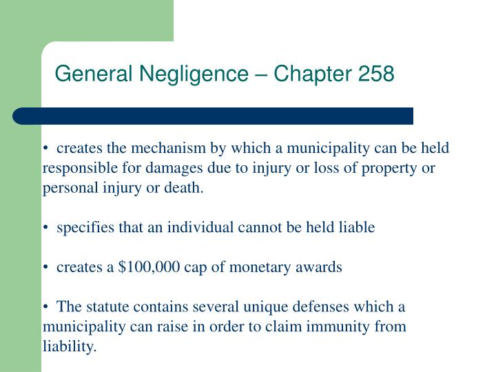General Negligence – Chapter 258