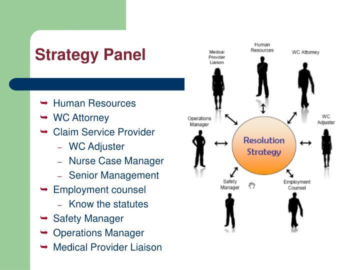 Strategy Panel