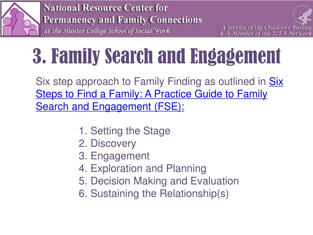 3. Family Search and Engagement