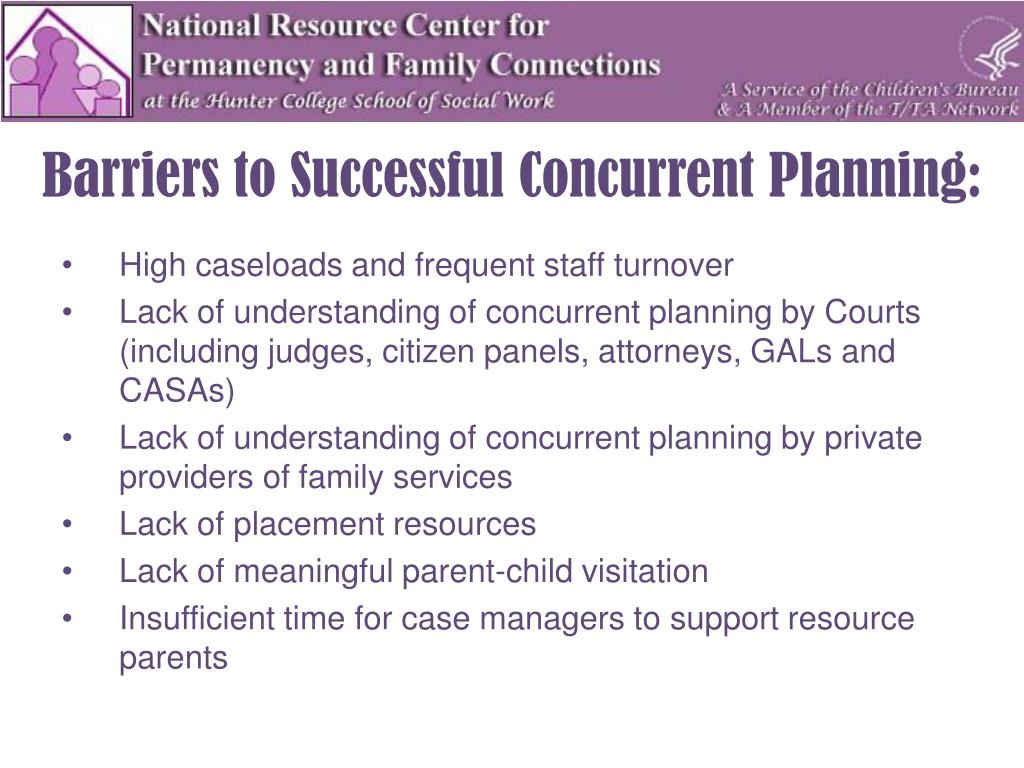 Barriers to Successful Concurrent Planning: