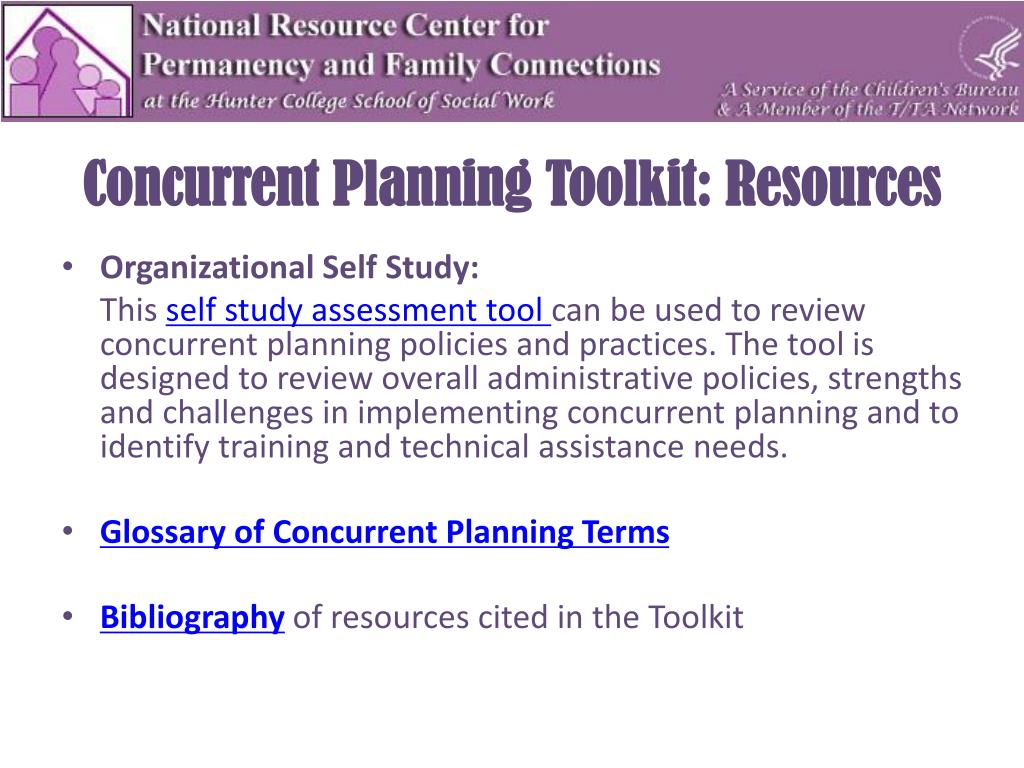 Concurrent Planning Toolkit: Resources