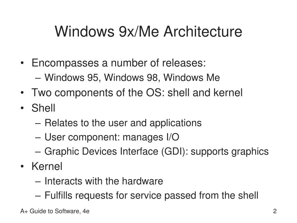 Windows 9x/Me Architecture