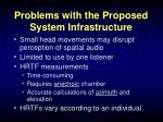 problems with the proposed system infrastructure