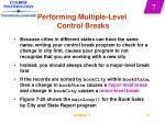 performing multiple level control breaks39