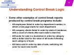 understanding control break logic4
