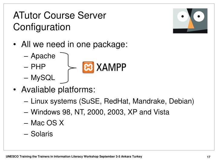 ATutor Course Server