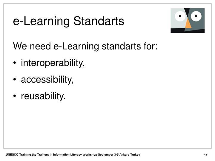 e-Learning Standarts