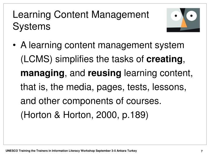 Learning Content Management Systems