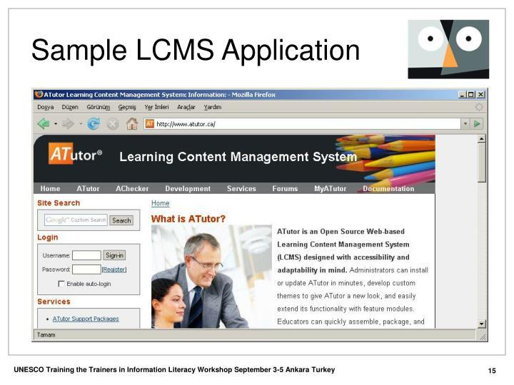 Sample LCMS Application