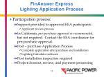 finanswer express lighting application process