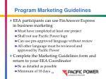 program marketing guidelines