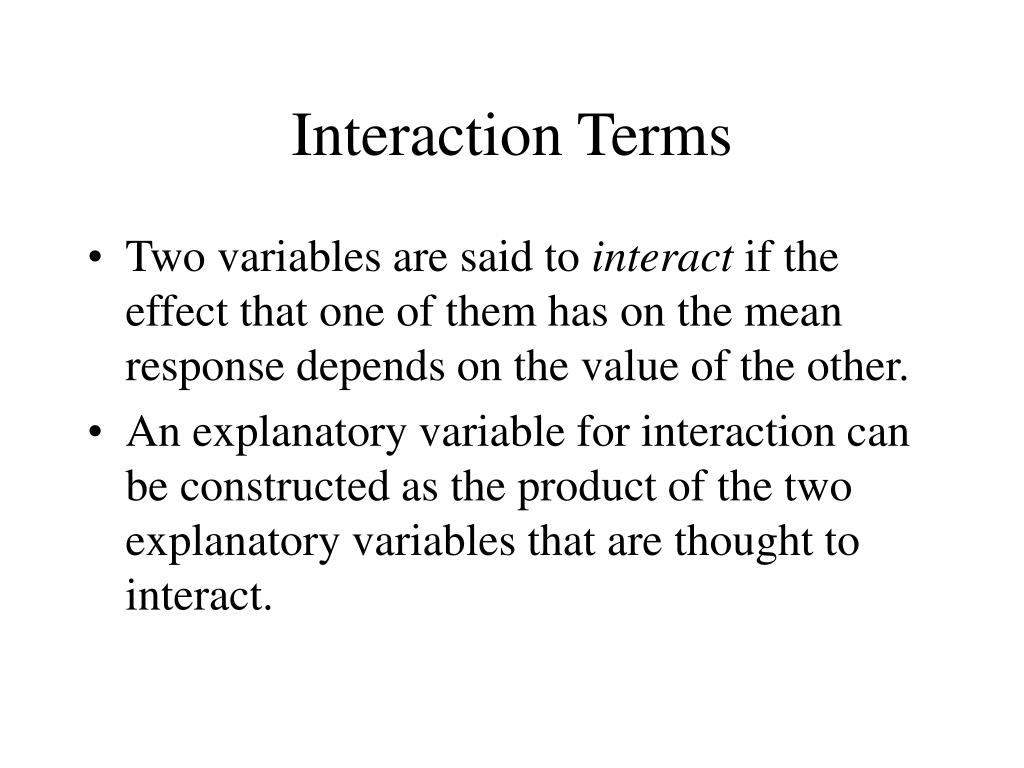 Interaction Terms