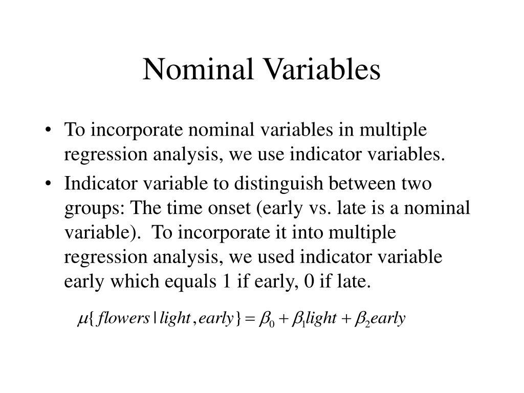Nominal Variables
