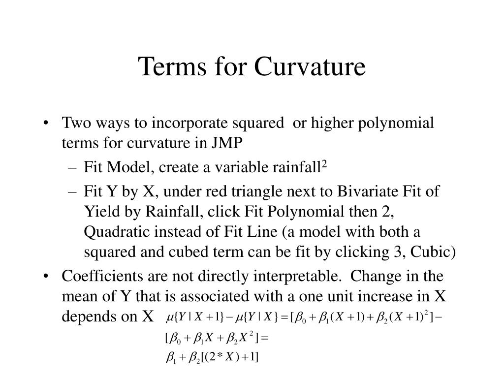 Terms for Curvature