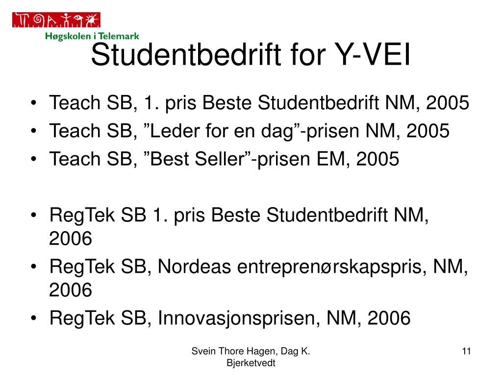 Studentbedrift for Y-VEI