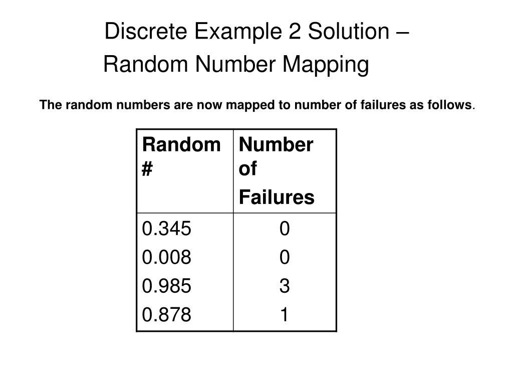 Discrete Example 2 Solution –