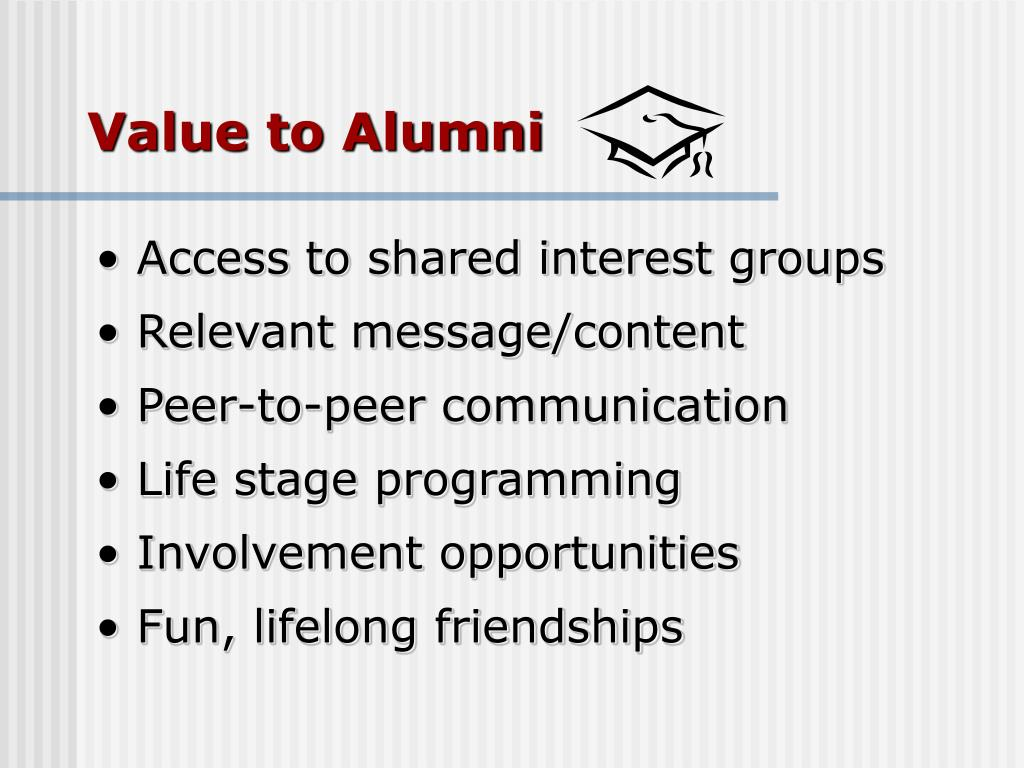 Value to Alumni