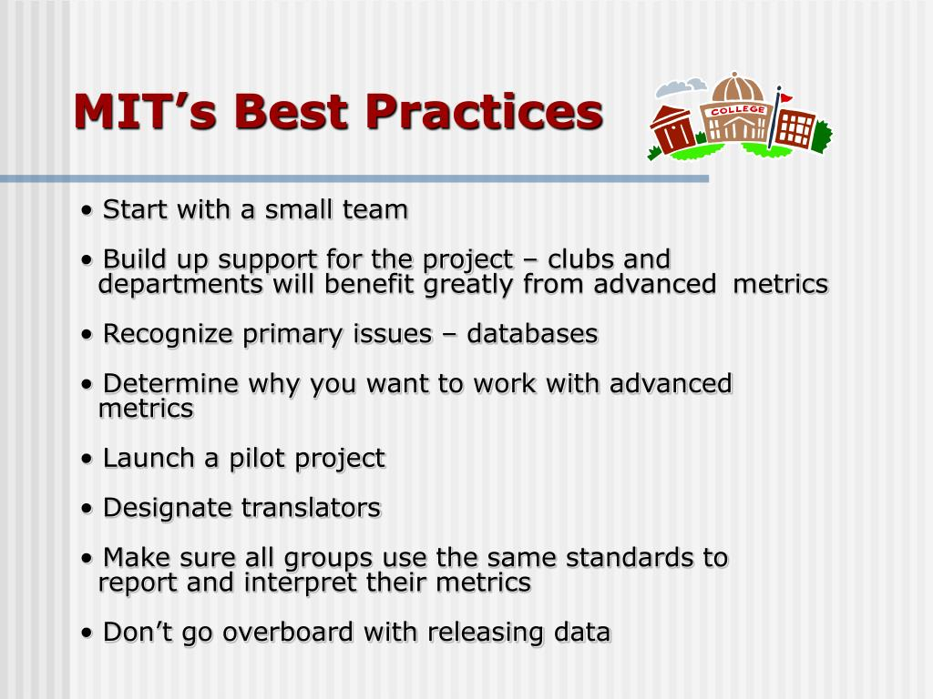 MIT's Best Practices