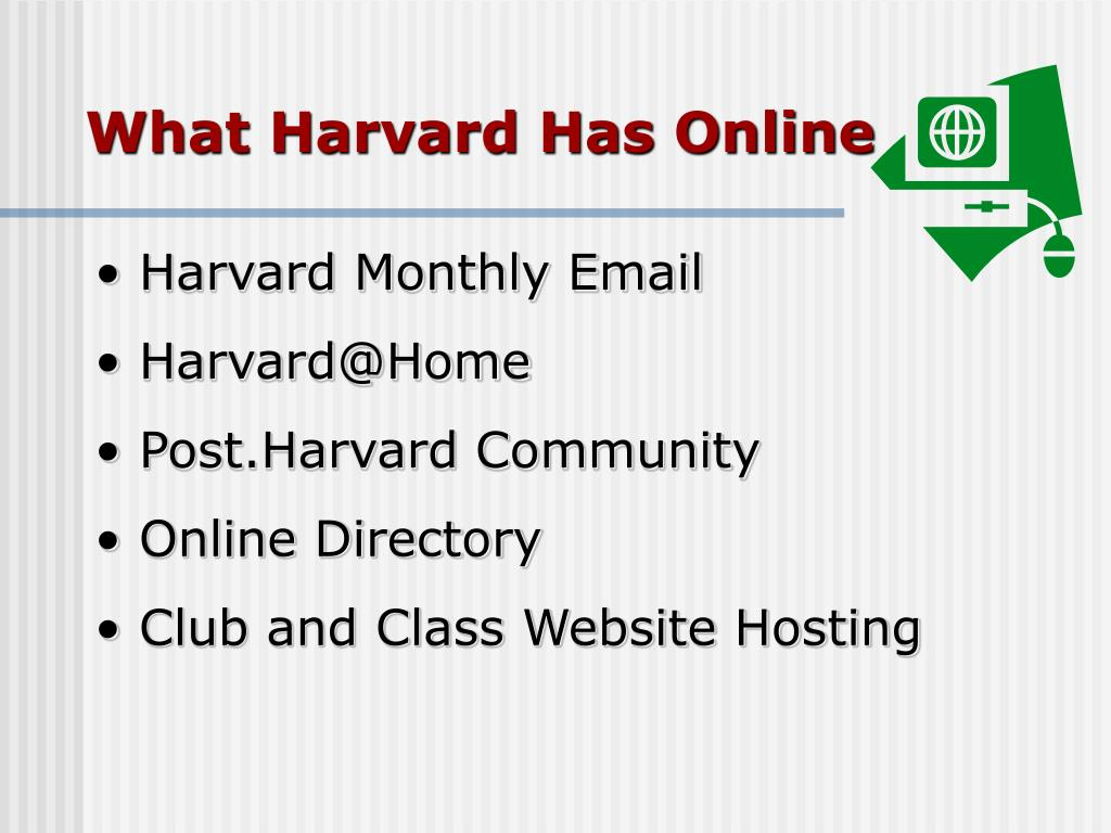 What Harvard Has Online