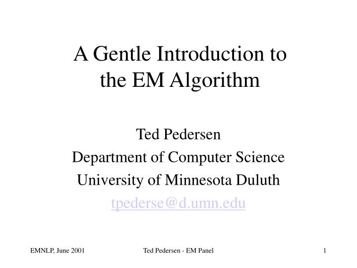 a gentle introduction to the em algorithm n.