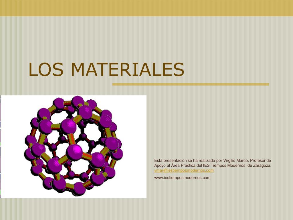 los materiales l.