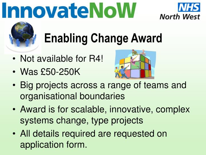 Enabling change award