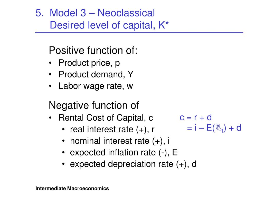 5.  Model 3 – Neoclassical