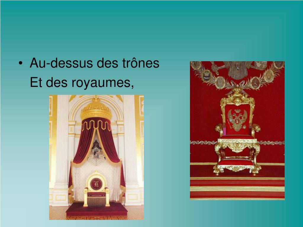Au-dessus des trônes