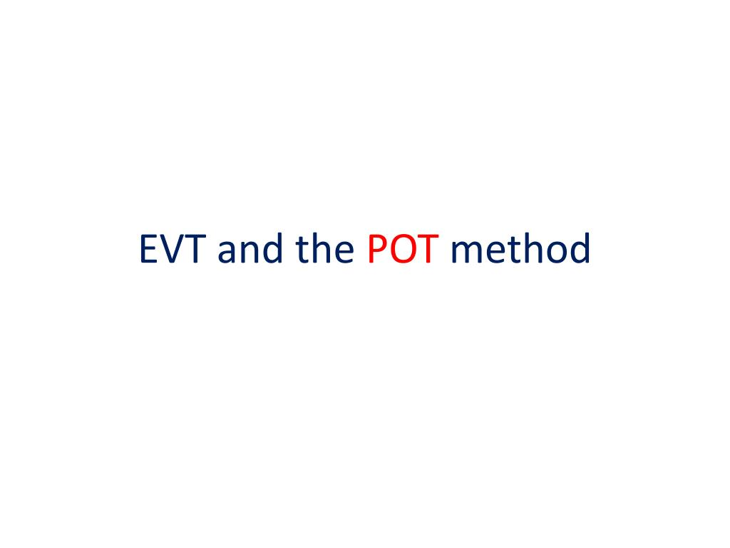 EVT and the