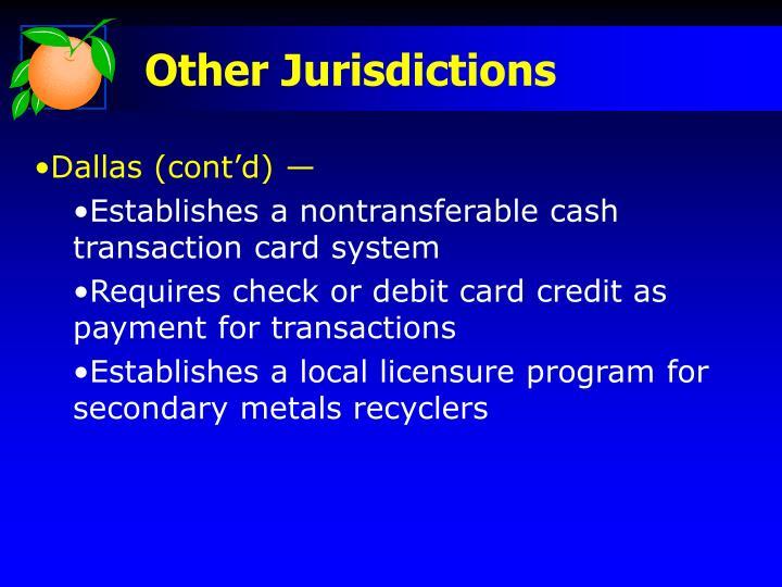 Other Jurisdictions