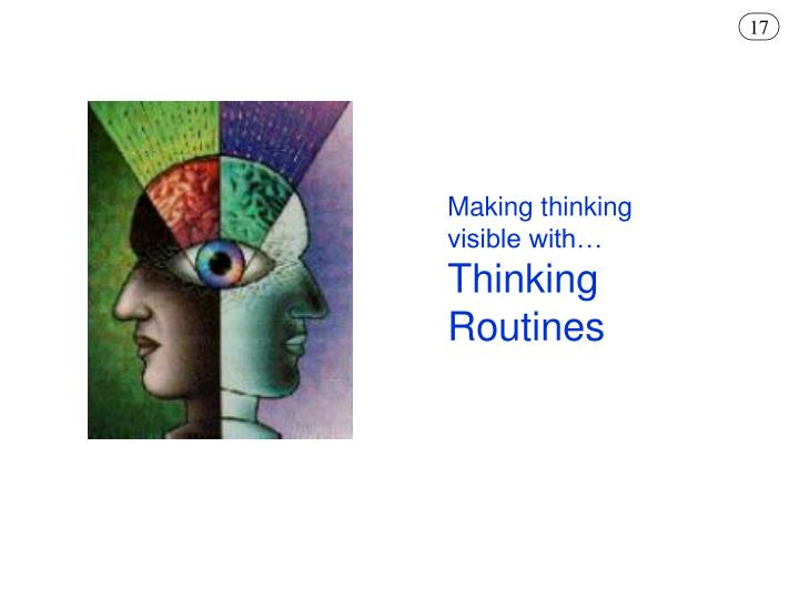 Making thinking visible with…