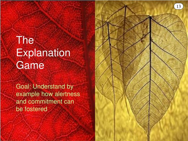 The Explanation Game