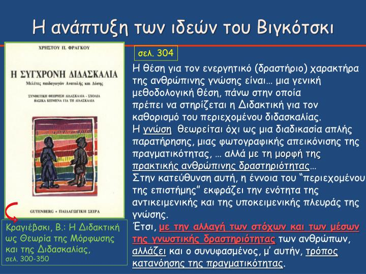 Η ανάπτυξη των ιδεών του Βιγκότσκι