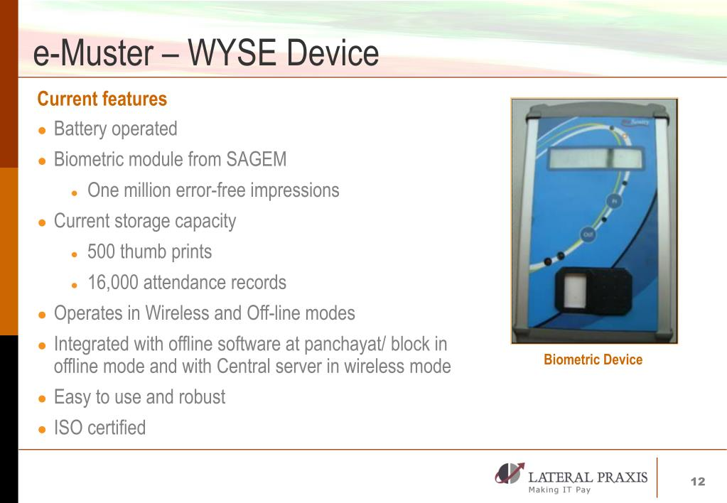 e-Muster – WYSE Device