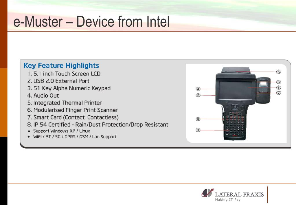 e-Muster – Device from Intel