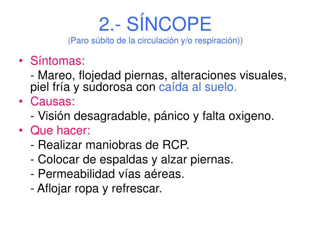 2.- SÍNCOPE