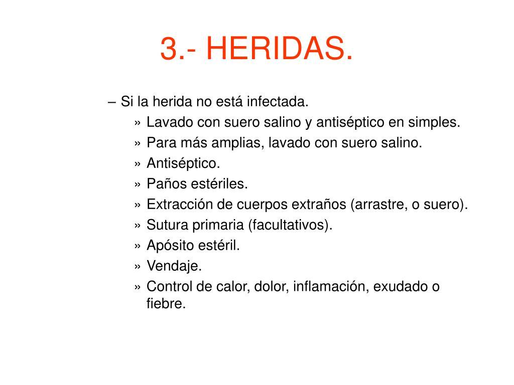 3.- HERIDAS.