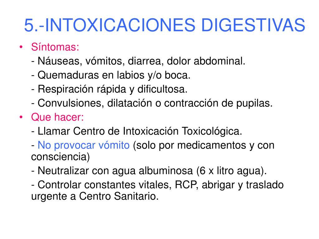 5.-INTOXICACIONES DIGESTIVAS