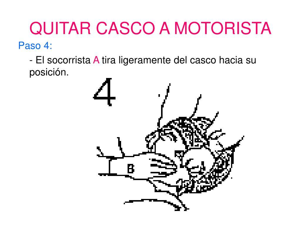 QUITAR CASCO A MOTORISTA