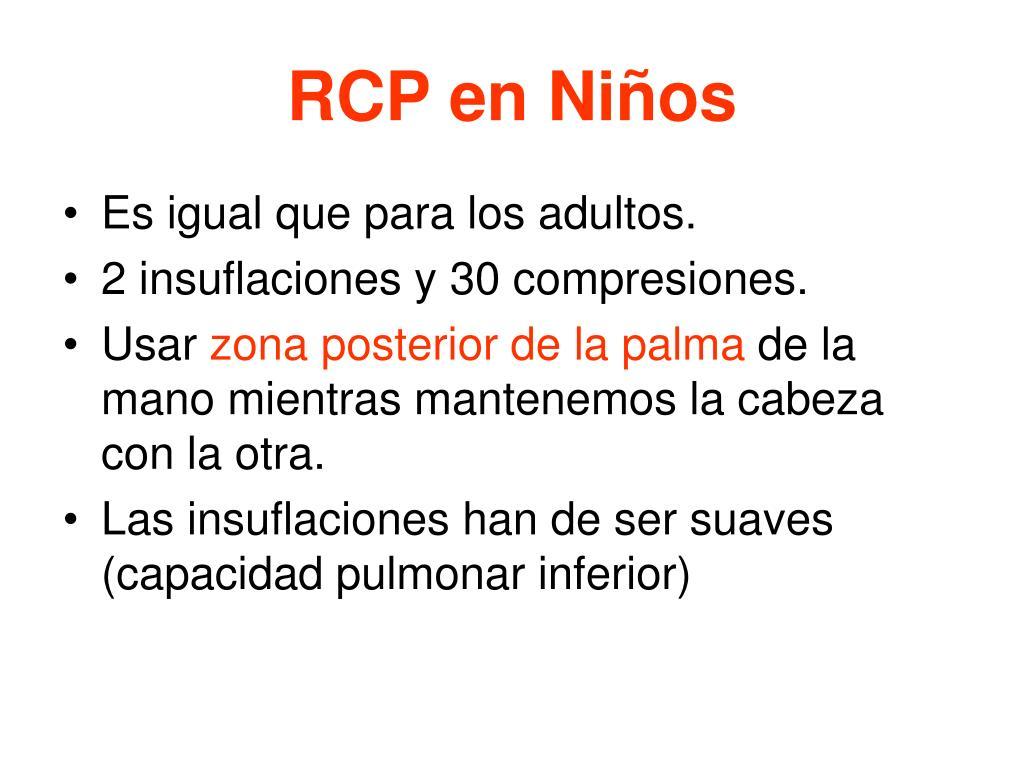 RCP en Niños