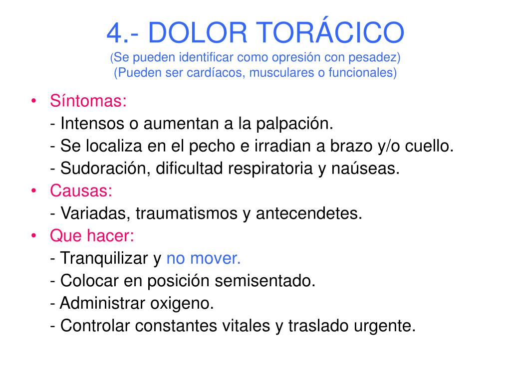 4.- DOLOR TORÁCICO