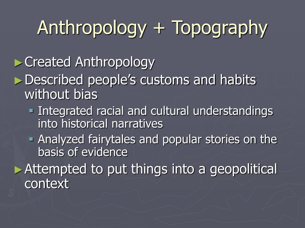 Anthropology + Topography