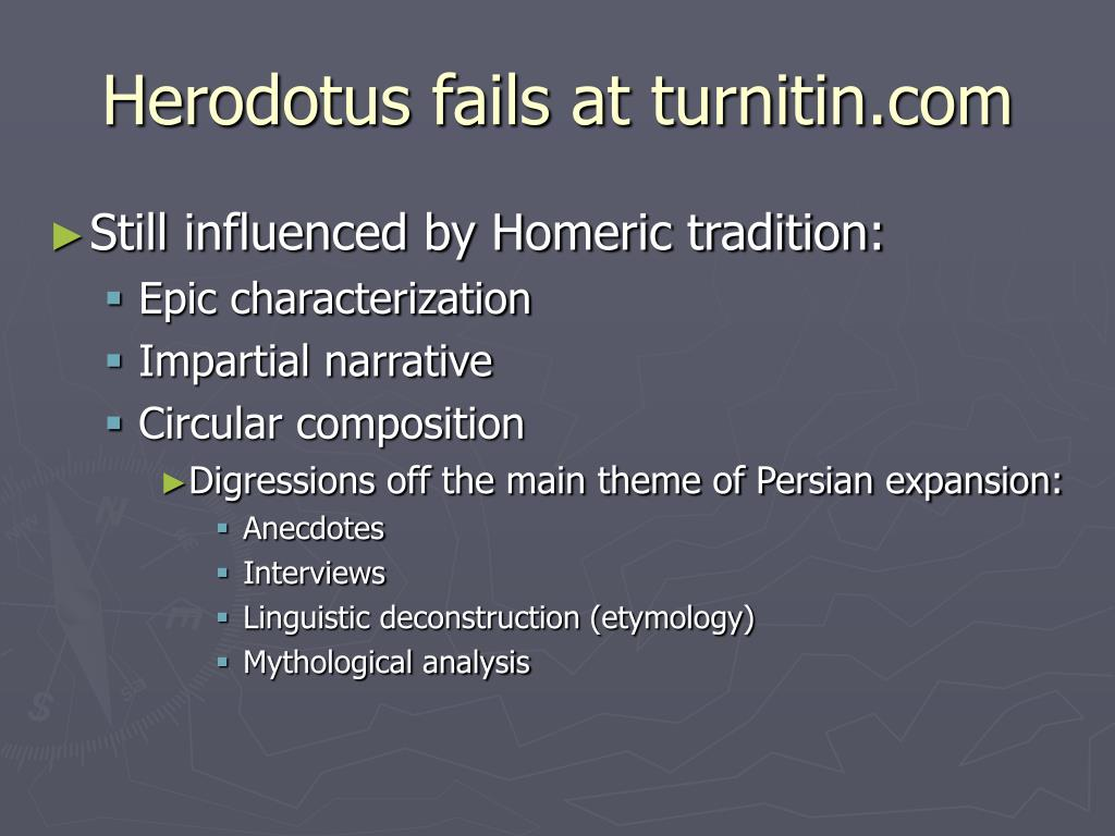 Herodotus fails at turnitin.com