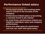 performance linked salary