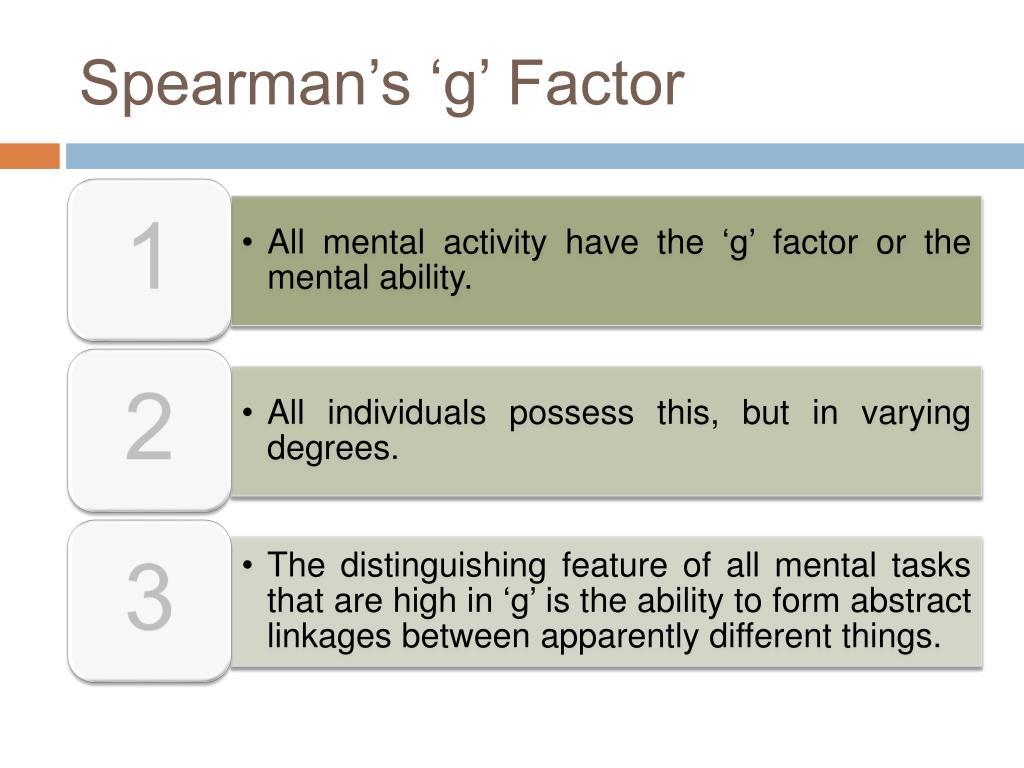 Spearman's 'g' Factor