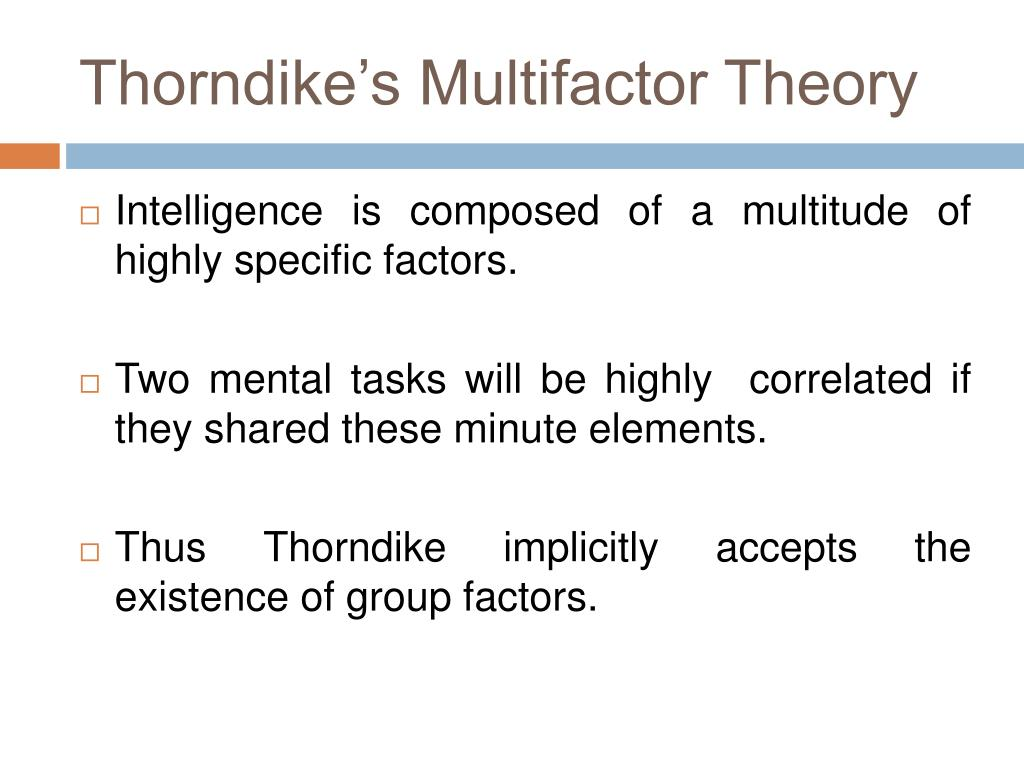 Thorndike's Multifactor Theory