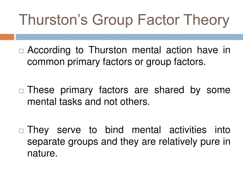 Thurston's Group Factor Theory