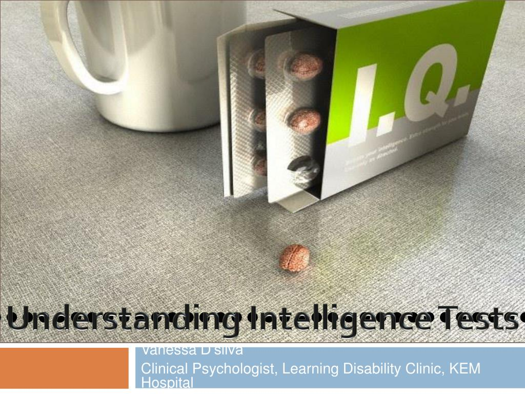 Understanding Intelligence Tests